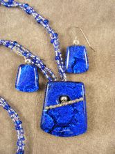 Cobalt and White beaded 2